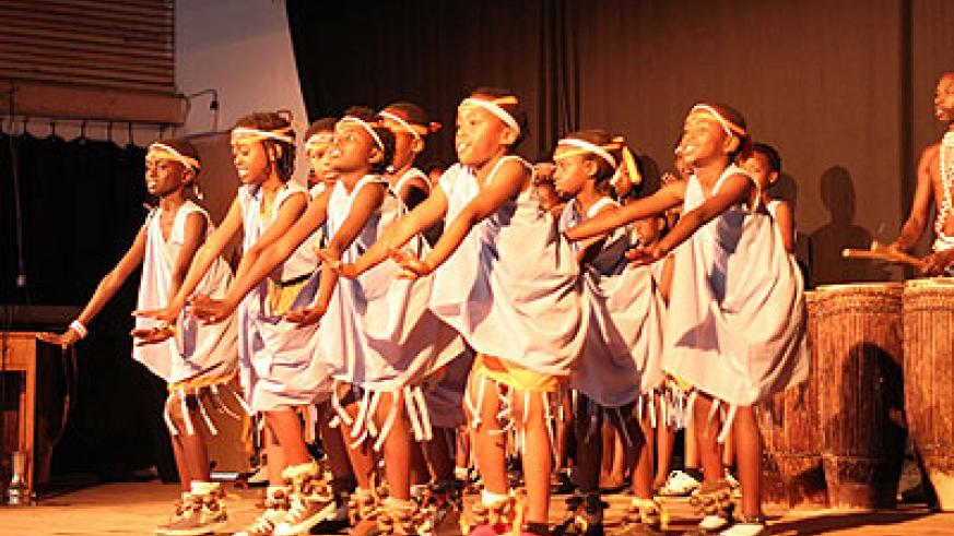Young girls exhibit their dancing skills.