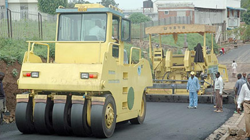 Ensuring that good infrastructure like roads and power will be key to the realisation of EDPRS II targets . File photo