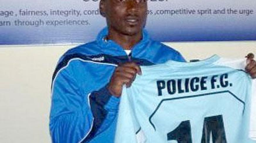 Striker Kipson Atuheire being presented to the media on Friday. Sunday Sport; Courtsey