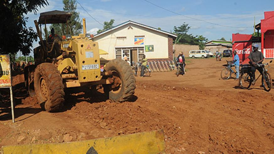 Road construction. Under Imihigo, each district, in consultation with specific central government units, sets its own targets.   The New Times/ Timothy Kisambira.