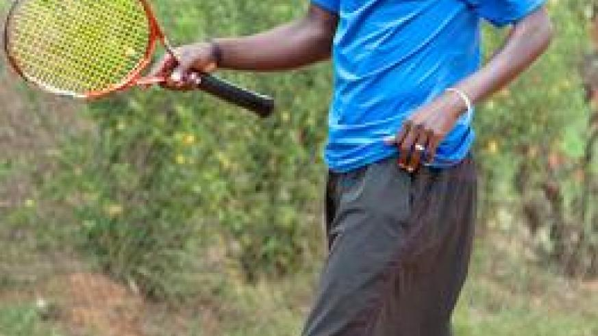 Habiyambere, Rwanda's second seed bowed out of the ITF Men's Futures with an ankle injury sustained while training in the build-up to the tournament. The New Times/ File.