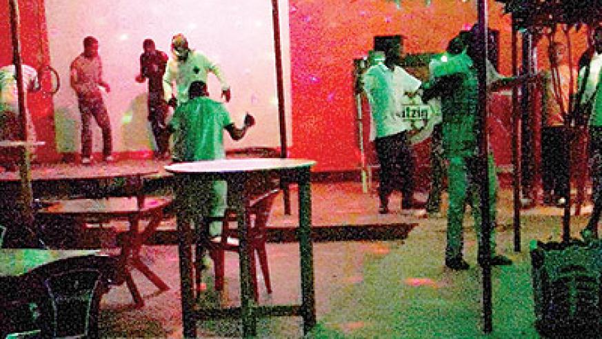 People dancing away at a bar in Butare. The New Times/ P.Buchana