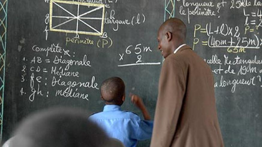 The policy will also be used as a yardstick to reward teachers as they progress in their careers.     The New Times/ John Mbanda.