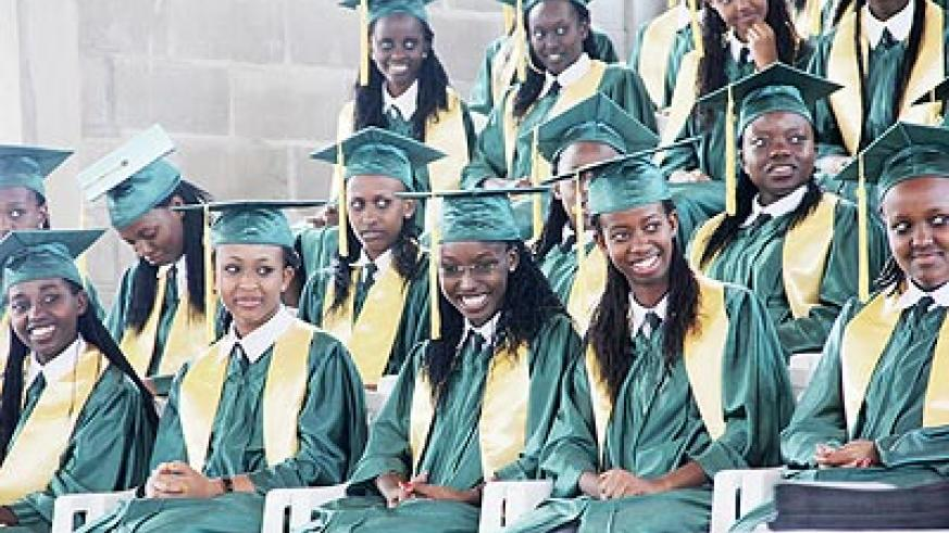 A section of graduands of Gashora Girls' Academy during last week's graduation ceremony. The New Times/ Courtesy.