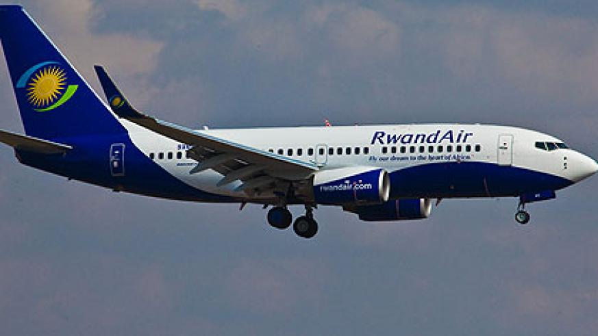 The new RwandAir 737-700 will ease business operations with direct flights to Juba, South Sudan. The New Times/ File.