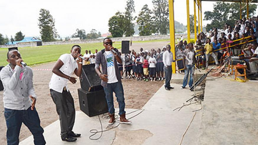 Tom Close with Dream Boys in Musanze District. The New Times/ Jean d'Amour Mbonyinshuti.