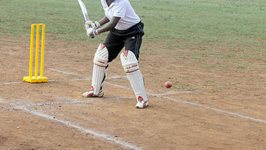 Cathia Uwamahoro  of Charity Cricket Club batting in a recent game. Saturday Sport/ Courtesy