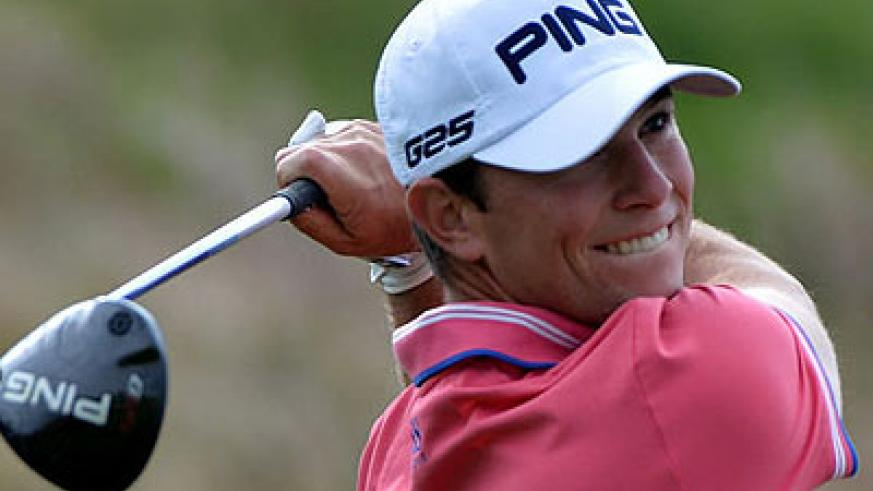 Luke Guthrie in action on day two of the BMW Masters in Shanghai. Net photo