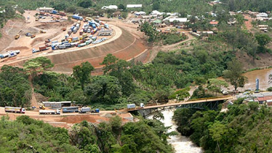 An aerial view of the proposed site for the Rusumo hydro-electric power  project.  The New Times/File.