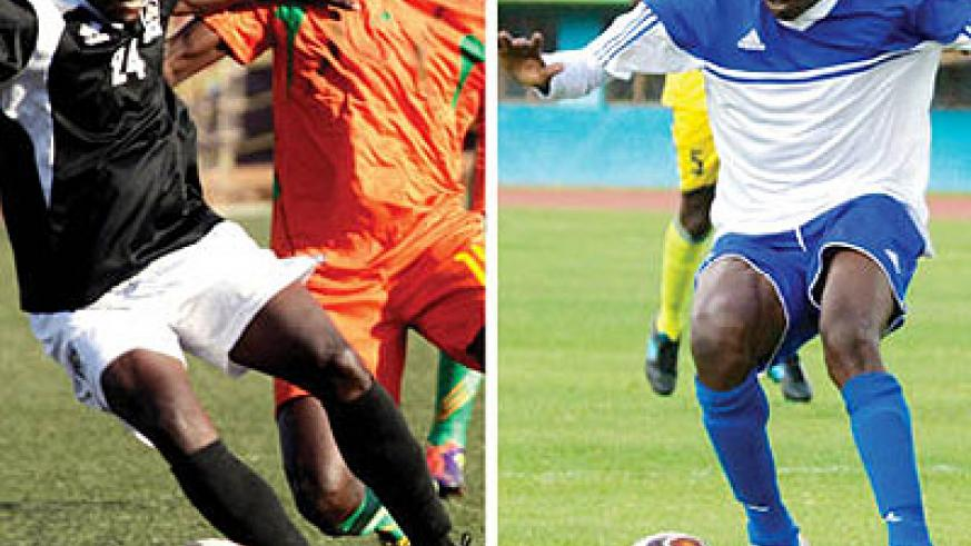 Michel Ndahunduka (left) will lead APR attack while Meddie Kagere (right) will lead Rayon at Amahoro stadium. Saturday Sport/ T. Kisambira.