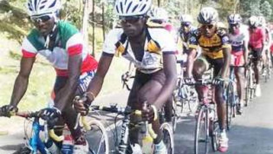 Team Rwanda riders in training at the team's training camp in Musanze on Wednesday. Times Sport / Courtesy.