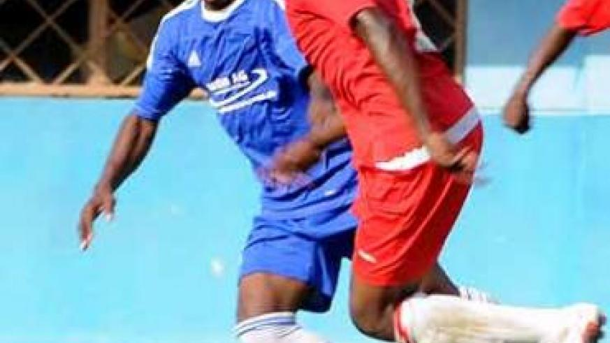 Former Rayon Sports' defender Aimable Rucyogoza (right) has been rock-solid for Espoir thi season. Saturday Sport; File