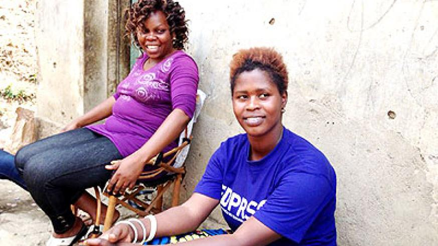 SFH has helped Mutungirehe (L) and others cut the yoke of prostitution. The New Times/ Ivan Ngoboka.