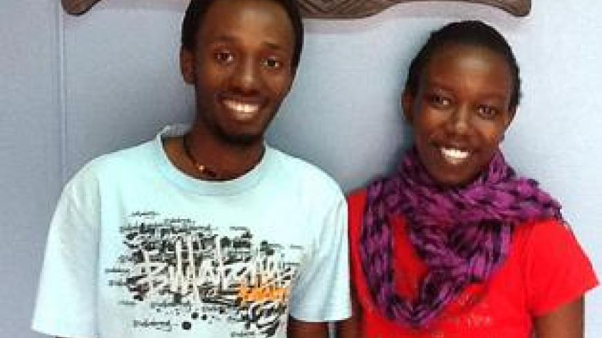 Eric Iradukunda (L) and Nancy Ingabire Abayo soon after they both got scholarships to Dartmouth College and Bucknell University respectively. Education Times / Courtesy.