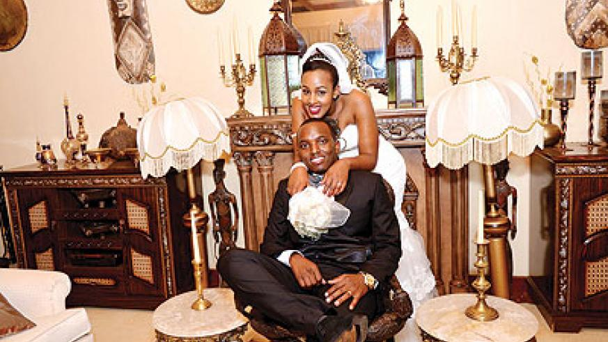 <p>Top: Local R&B singing sensation Tom Close married his long-term fiancée Ange Tricia Niyonshuti in a glitzy ceremony, last weekend.</p>