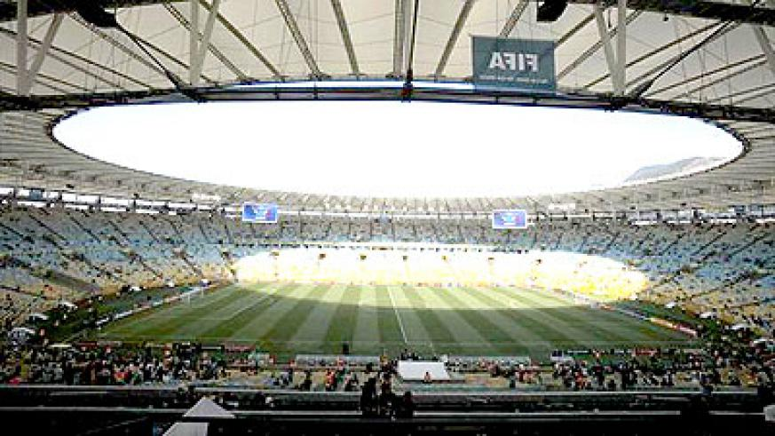 A general view shows the Estadio Maracana before the Confederations Cup Group A soccer match between Mexico and Italy in Rio de Janeiro June 16, 2013.