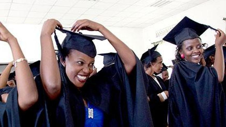 A past graduation at Akilah Institute.