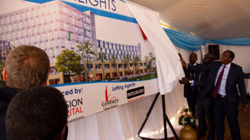 How it will look: The artistic impression of Kigali heights which was un veiled last week. The New Times / T. Kisambira.