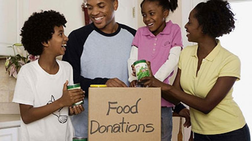 As a family, you could make the day special by donating food to the less fortunate. Net photo
