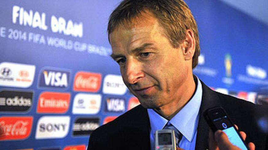 Klinsmann signed a four-year contract extension with the United States on Thursday which will see the former Germany star remain as coach until the 2018 World Cup. Net photo