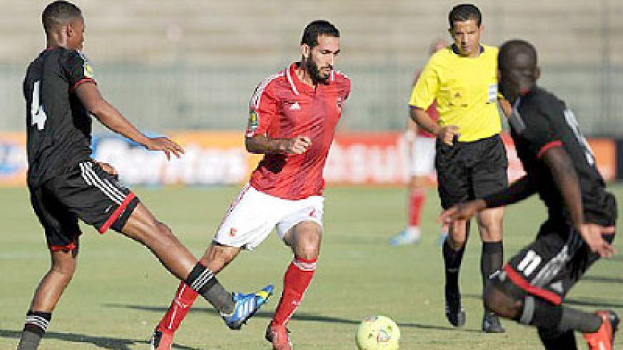 Mohamed Aboutrika seen in action against Orlando Pirates in the final of the Caf Champions League. Net photo