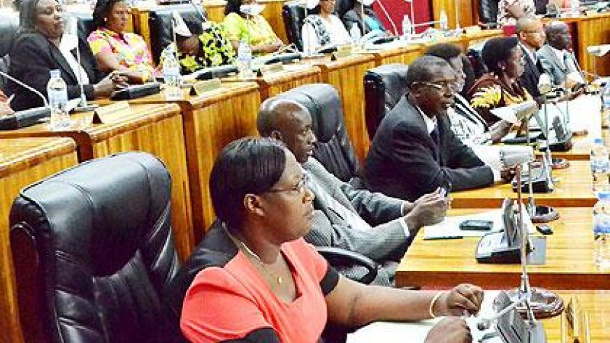 Lawmakers during business at parliament. The Sunday Times/John Mbanda