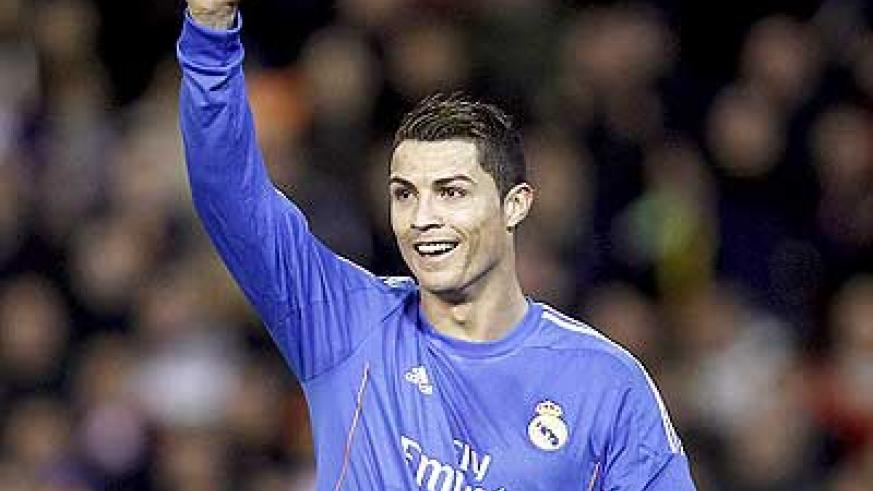 Ronaldo's goal against Valencia saw him become the joint fourth top scorer in Real's history. Net photo.