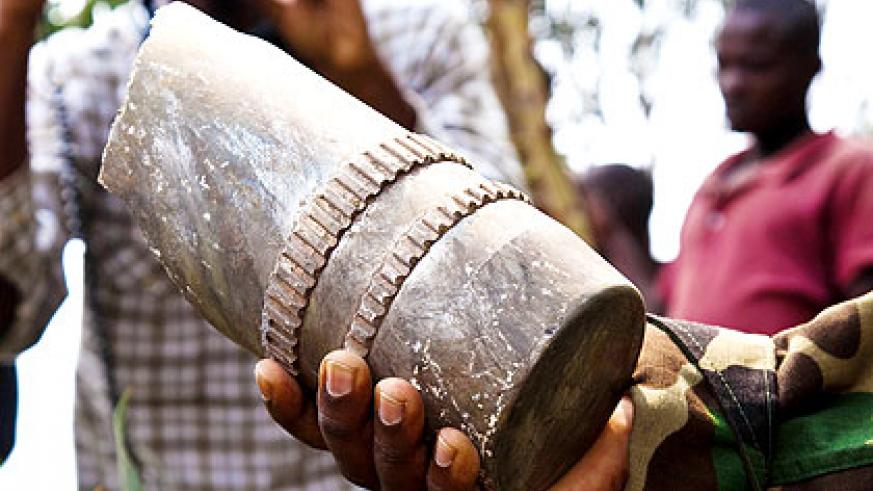 A mortar that was shelled into Rubavu from the DR Congo side. The New Times/File