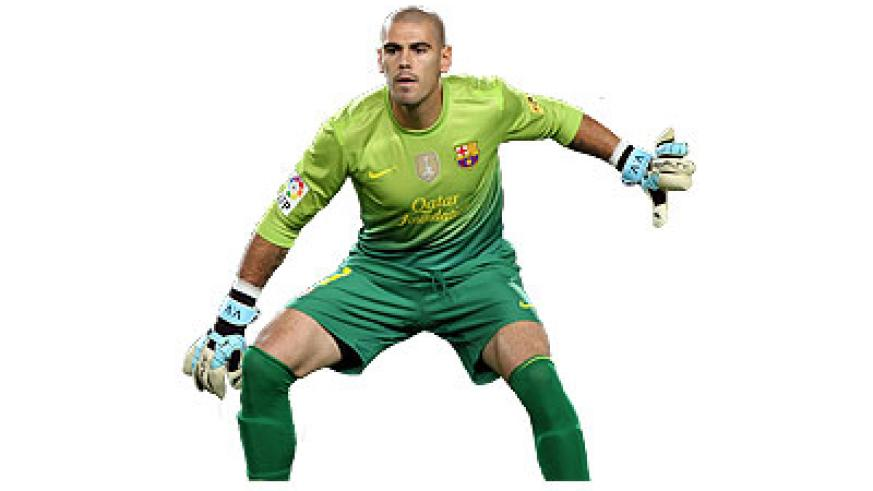 Barca have been boosted by the return to the squad of goalkeeper Victor Valdes after injury.  Net photo.