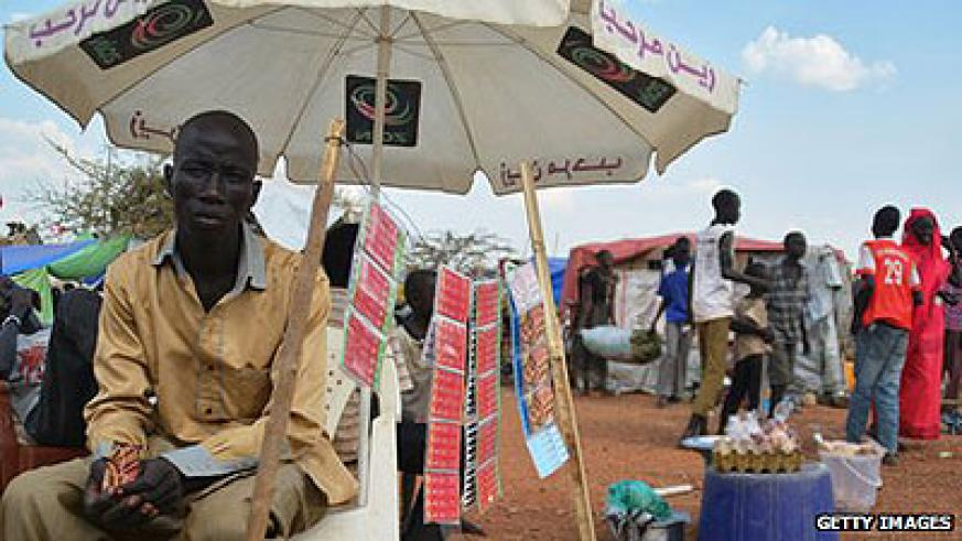 Many South Sudanese mobile phone users rely on scratch cards to access networks. Net photo