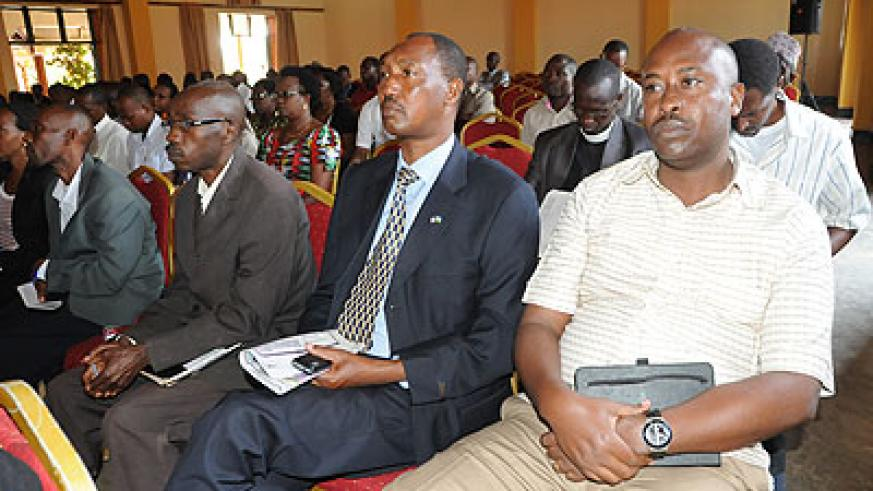 Headteachers at a meeting in Kigali. Education Times / File.