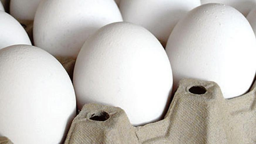A tray of eggs goes for Rwf2,500 in most markets around the city. File
