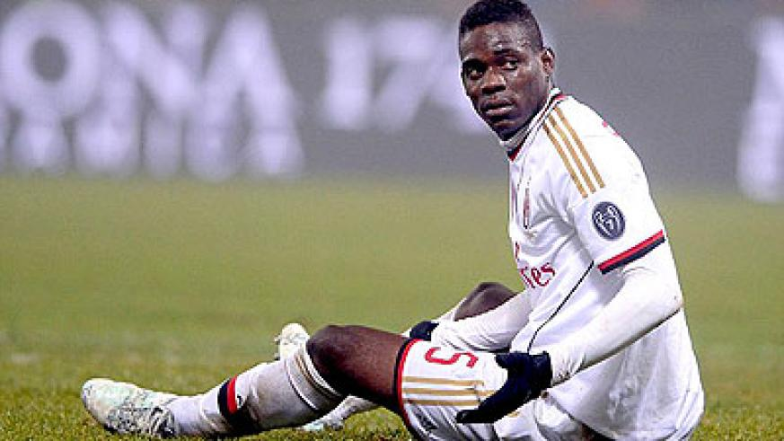 Mario Balotelli and AC Milan have endured a miserable season in the Serie A. Net photo