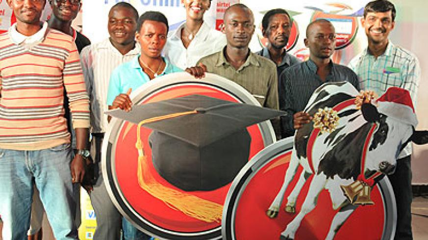 Some of the beneficiaries of the scholarships. Education Times/B. Gasole