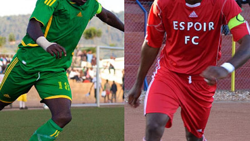 AS Kigali skipper Jimmy Mbaraga will lead the line against Espoir.Espoir captain Said Abed is one of the most experienced players in the league.