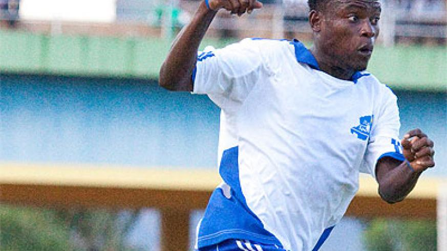Former Rayon Sports' striker Jerome Sina has been given the green light to join Police FC. Times Sport/File
