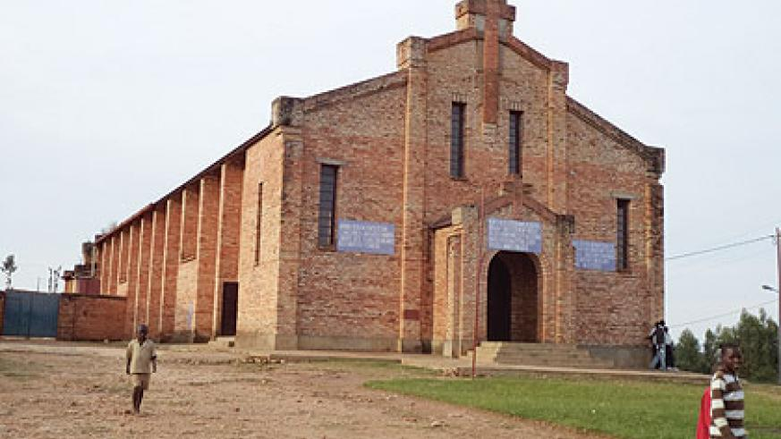 Today, part of Kibeho church has been turned into a memorial site to honour the memories of those who perished during the Genocide against the Tutsi.  Inset is Genocide survivor An....