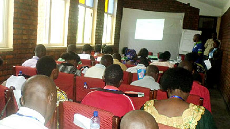 Members of the Anglican church Musanze undergoing training on family planning methods. The New Times/ Ivan Ngoboka.
