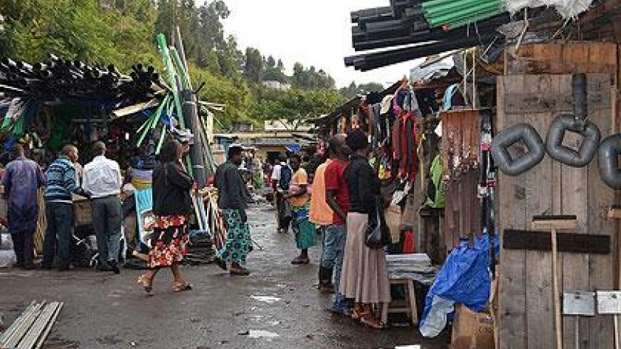 Part of Musanze market that is to be rebuilt. Jean d'Amour Mbonyinshuti