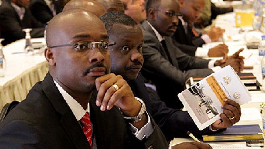Stakeholders at the presentation of the Monetary Policy and Financial Stability Statement yesterday. John Mbanda.