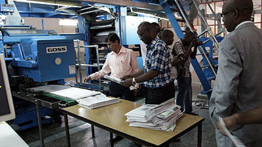 The web printing machine that has been among the RBA assets.  The printery is now under private ownership. John Mbanda.