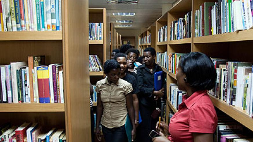 Readers at the Kigali Public Library. File photo.