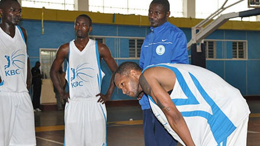KBC are the only local team to beat Espoir once in two seasons, and Karime (in blue jacket) believes his team can even take the league title this season. File