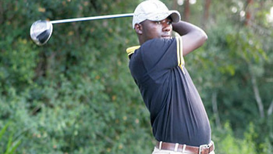 Rwandan professional golfer Jean Baptiste Hakizimana struggled in the first round of the Kenya Open. File