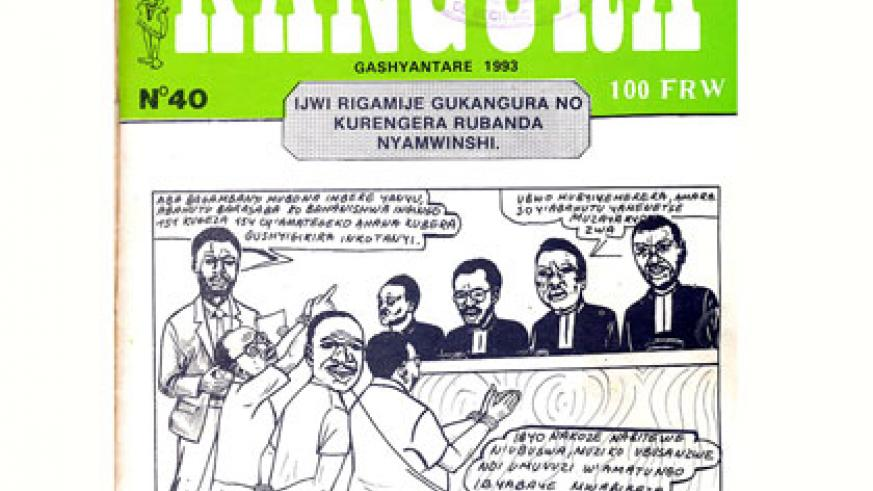 Kangura issue 40 argued that the Tutsi, like a cockroach, use the cover of darkness to infiltrate. File.