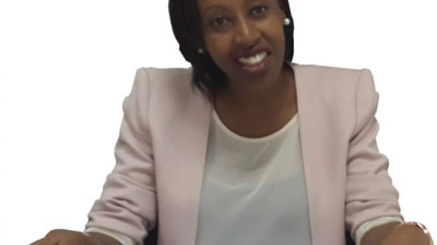 Denise Umunyana during the interview. She challenges HR people to be flexible and innovative. The New Times /  Ben Gasore