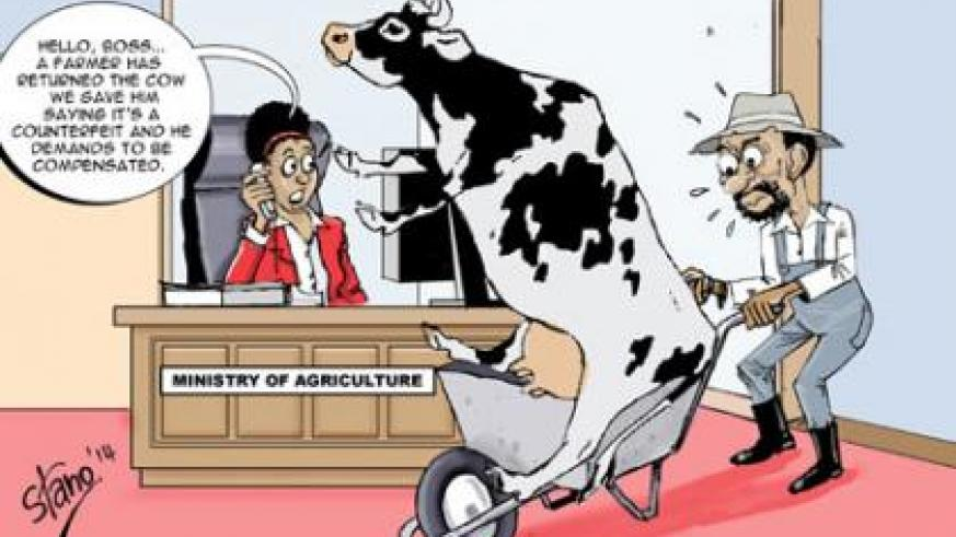 A group of farmers on Friday met with the Minister for Agriculture to demand compensation for controversial exotic Friesian cows imported from the Netherlands-based firm Firma Scha....
