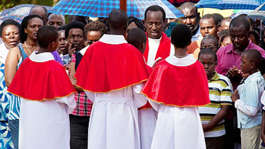 Christians at a past religious function. File