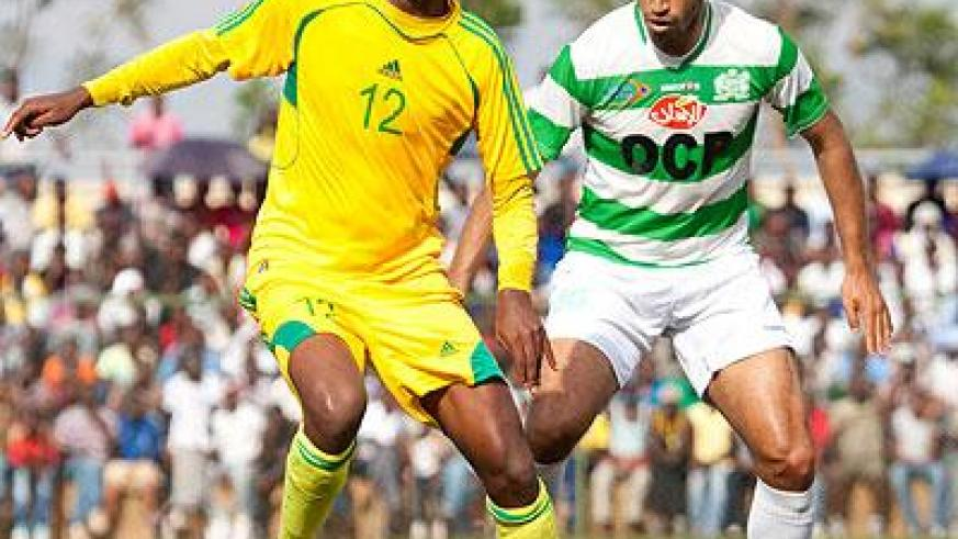 AS Kigali's Justin Mico had an outstanding game as he partnered Jimmy Mbaraga on the striking line against El Jadida yesterday at Stade de Kigali. (Timothy Kisambira)