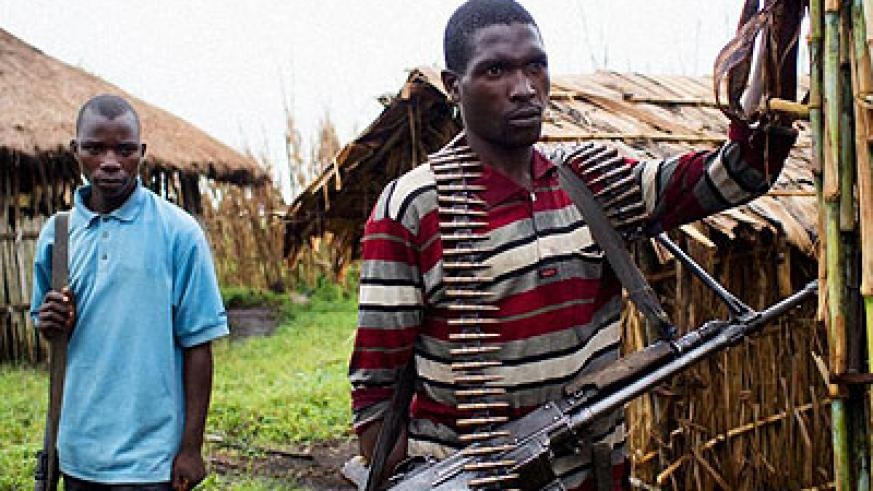 Some members of FDLR militants in Eastern DR Congo. (Internet photo)